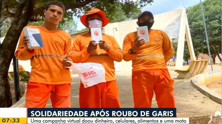 Garis foram assaltados enquanto trabalhavam em uma praça no CE - Reprodução/Globoplay Bom Dia Ceará