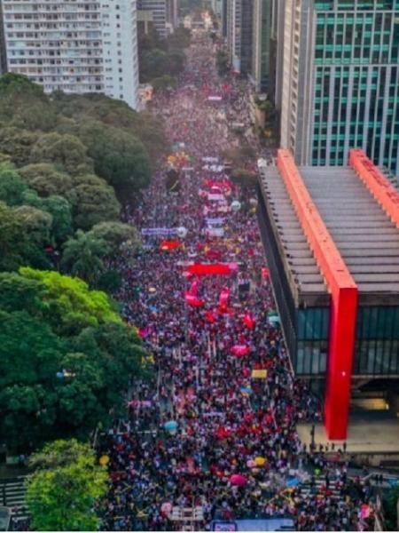 Manifestação na Paulista: por enquanto, sem previsão de conflitos no 7 de setembro - Reprodução/Mídia Ninja