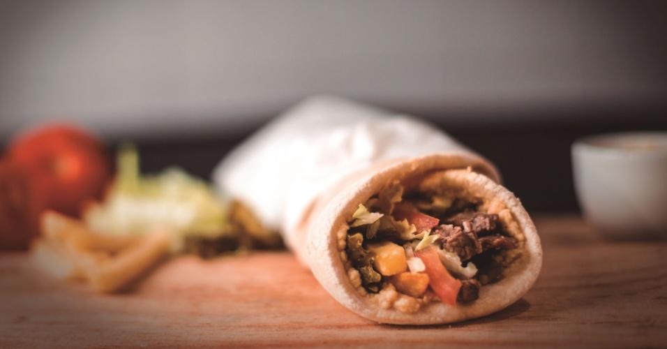 Shawarma da rede Mister Sheik