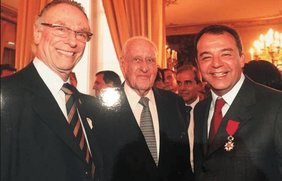 Carlos Arthur Nuzman (ex-presidente da Rio-16), João Havelange (ex-presidente da Fifa, morto) e o ex-governador Sérgio Cabral em Paris, no episódio conhecido como Farra dos Guardanapos