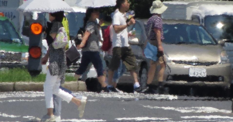 2.ago.2018 - Onda de calor em Tóquio, no Japão
