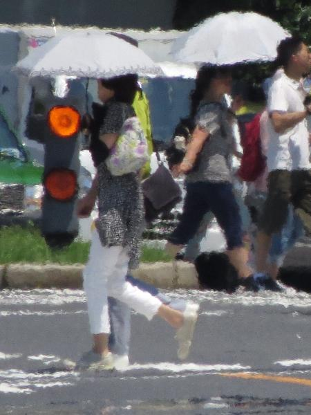Altas temperaturas na capital japonesa durante período olímpico preocupam organizadores - AFP PHOTO / Kazuhiro NOGI