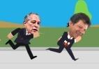 Eleições 2018: Haddad e Bolsonaro avançam, mas sombra da rejeição aumenta (Foto: Arte/UOL)