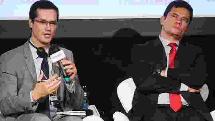 O procurador da República, Deltan Dallagnol, e o ex-juiz Sergio Moro  - Jorge Araújo / Folhapress - Jorge Araújo / Folhapress