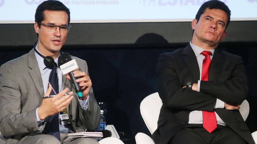 O procurador Deltan Dallagnol e o ex-juiz Sérgio Moro - Jorge Araújo / Folhapress
