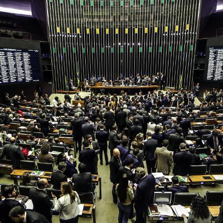 11.jul.2019 - Plenário da Câmara dos Deputados antes da votação dos destaques ao texto-base da reforma da Previdência - Gabriela Biló/Estadão Conteúdo