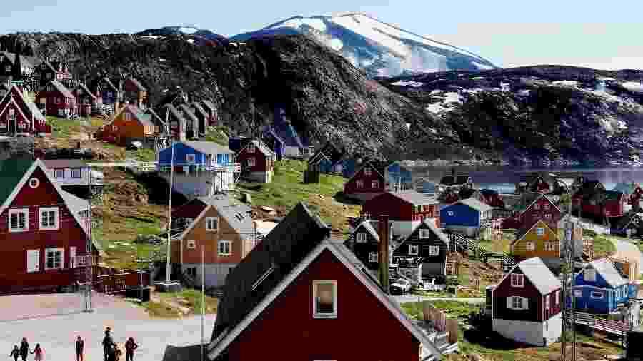 11.jul.2015 - Vista geral de Upernavik, na Groenlândia - Ritzau Scanpix/Linda Kastrup via Reuters