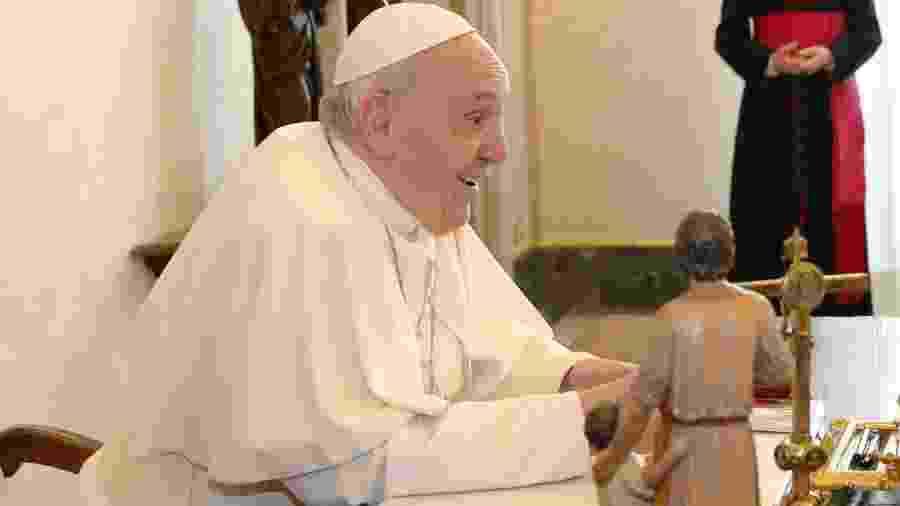 Papa Francisco participa de encontro com presidente do Mali, Ibrahim Boubacar Keita - Remo Casilli/AFP
