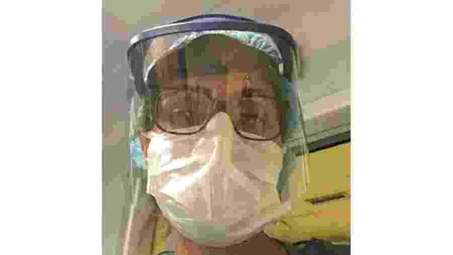 Enfermeira na Itália, brasileira Cláudia de Morais trabalha em hospital que agora só atende pacientes de covid-19 - Arquivo Pessoal