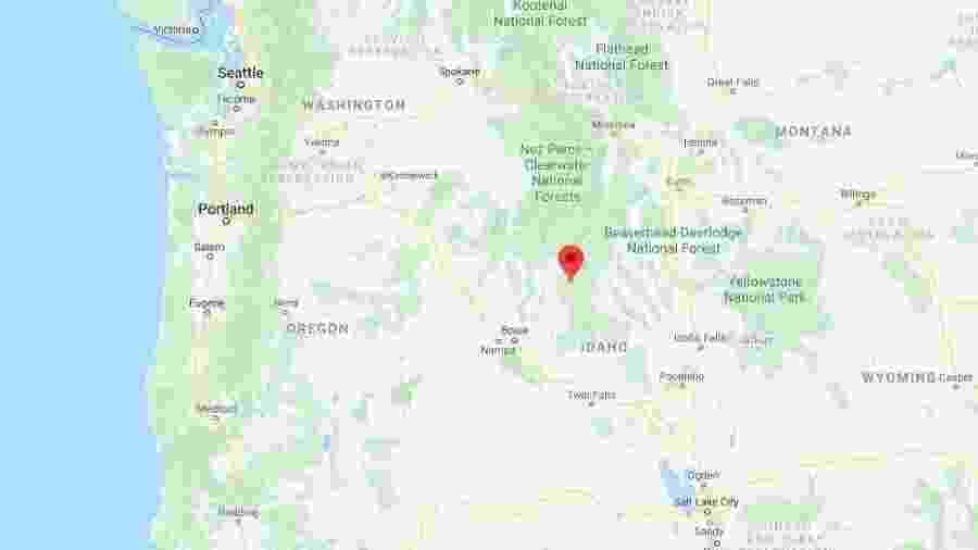 Terremoto no estado de Idaho, nos Estados Unidos - reprodução