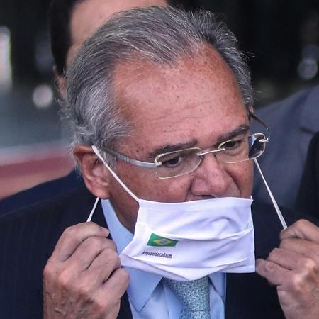 O ministro da Economia, Paulo Guedes, durante anúncio da prorrogação do auxílio emergencial - Gabriela Biló/Estadão Conteúdo