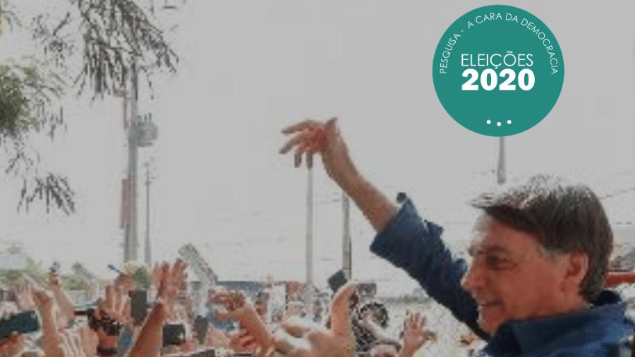 Presidente Jair Bolsonaro cumprimenta apoiadores em Mossoró (RN) em agosto de 2020 - Alan Santos/Divulgação/Edição Observatório das Eleições