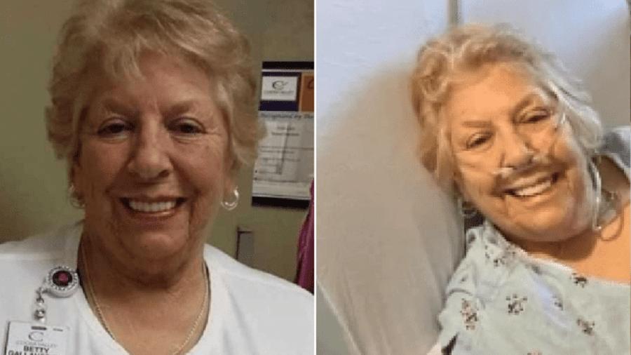 Betty morreu de covid-19 e foi lembrada com muito carinho pelos colegas de trabalho - Reprodução/Coosa Valley Medical Center e TikTok