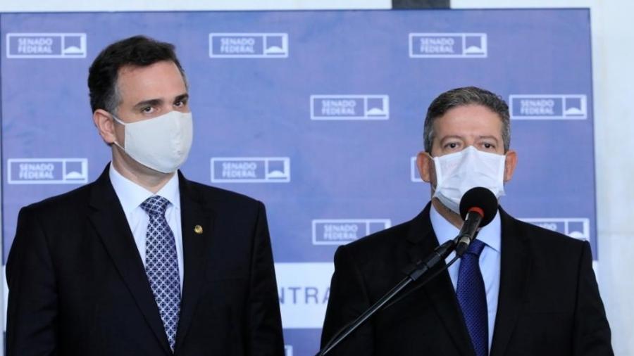 Os presidentes do Senado, Rodrigo Pacheco (DEM-RO), e da Câmara, Arthur Lira (PP-AL) - Luis Macedo/Câmara dos Deputados
