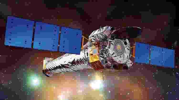 Ilustração do Observatório de raios-X Chandra, um telescópio espacial lançado pela Nasa em 1999 - Nasa/CXC/NGST - Nasa/CXC/NGST