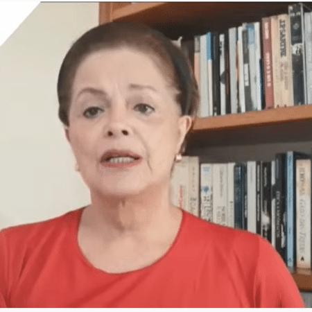 Dilma Rousseff em live das centrais sindicais no dia 1º de maio - Reprodução/TVT