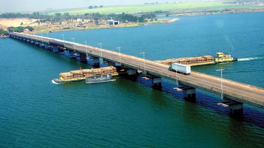 Segundo a CNT, o sistema dos rios Tietê-Paraná é o que mais se aproxima de uma hidrovia no Brasil - Divulgação/DNIT