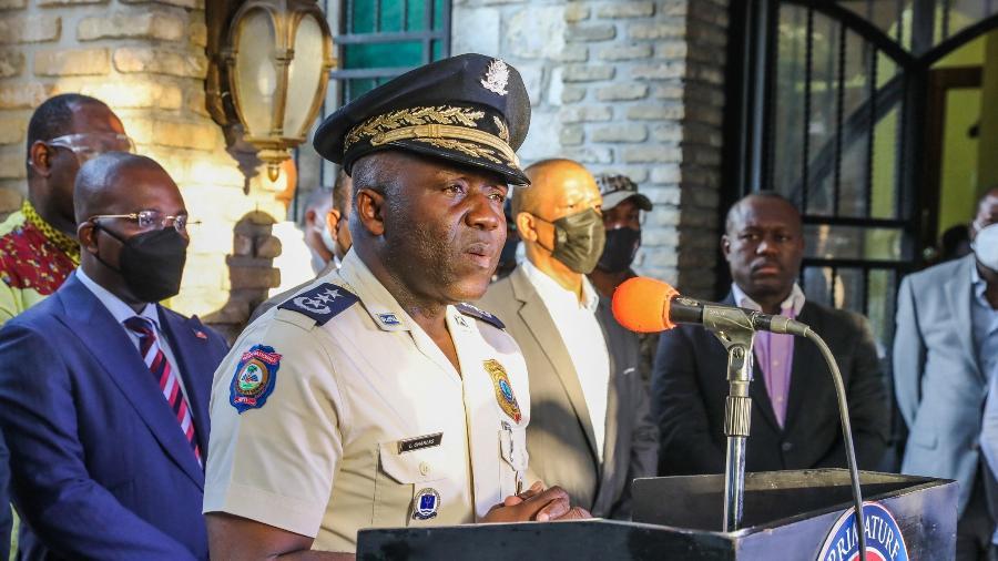 Polícia Nacional do Haiti anunciou a prisão do comissário Jean Laguel Civil, coordenador de segurança do presidente Jovenel Moise - Valerie Baeriswyl / AFP