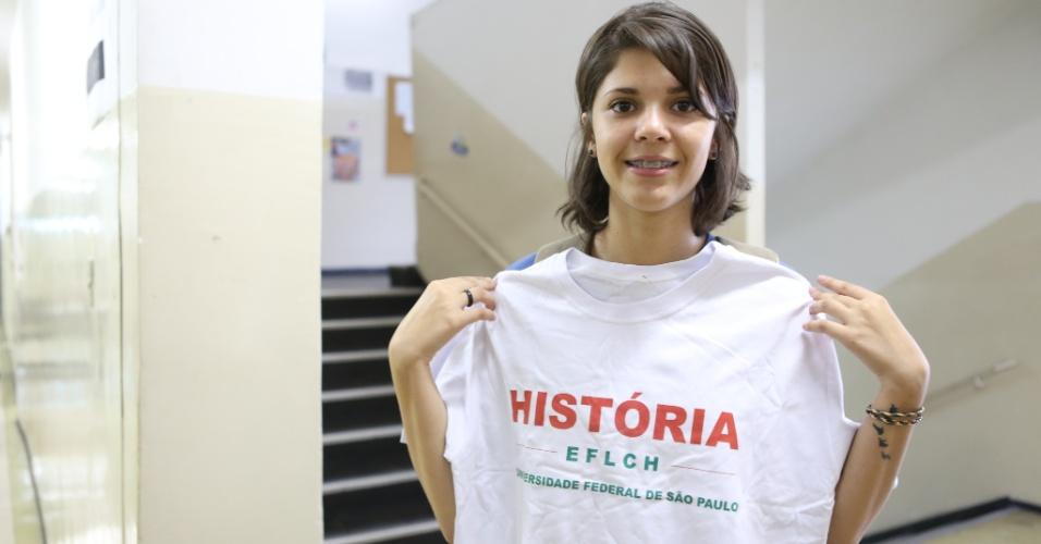 Miriã Galvão Fernandes, 19, aprovada em história na Unifesp