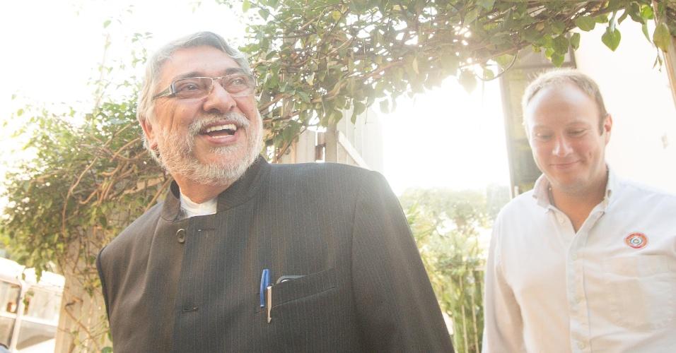 Fernando Lugo, ex-presidente do Paraguai, visita o ex-presidente Lula em São Paulo