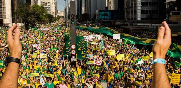 Ato do MBL na avenida Paulista em 2016