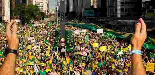 Ato do MBL na avenida Paulista em 2016 - Eduardo Knapp/Folhapress