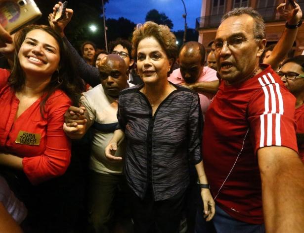 Ex-presidente Dilma Rousseff participa do Ato Nacional contra a Desconstrução do Estado Democrático de Direito