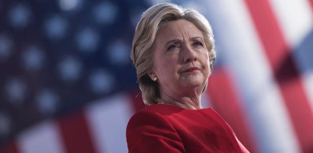 A então candidata democrata, Hillary Clinton, em comício em Pittsburgh, na Pensilvânia