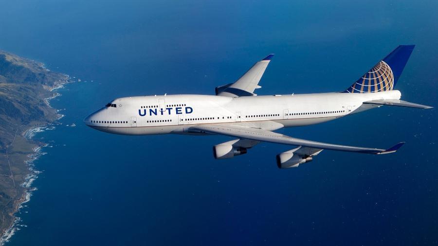 Boeing 747 da United Airlines - Divulgação