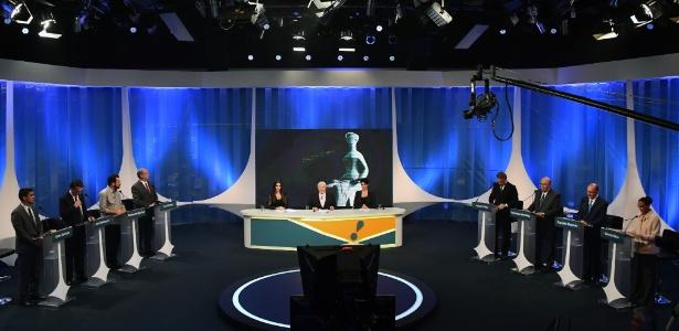 Candidatos à Presidência da República convidados pela RedeTV!/IstoÉ para o debate eleitoral do primeiro turno, na sexta-feira (17) - Nelson Almeida/AFP