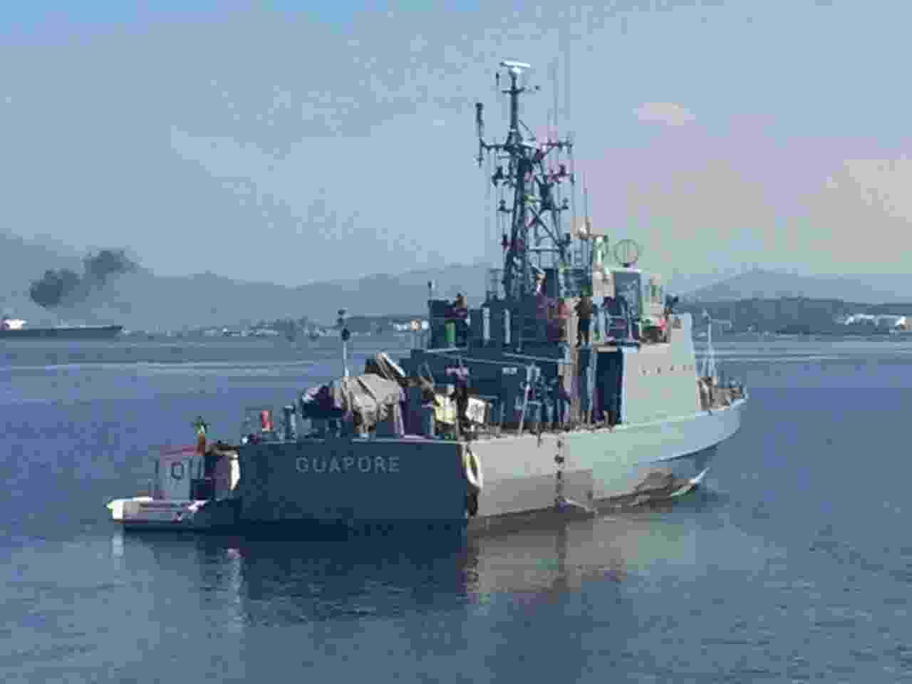 O navio patrulha oceânico Guaporé, usado em operação das Forças Armadas para evitar possível fuga de criminosos do Complexo do Salgueiro - Luis Kawaguti/UOL