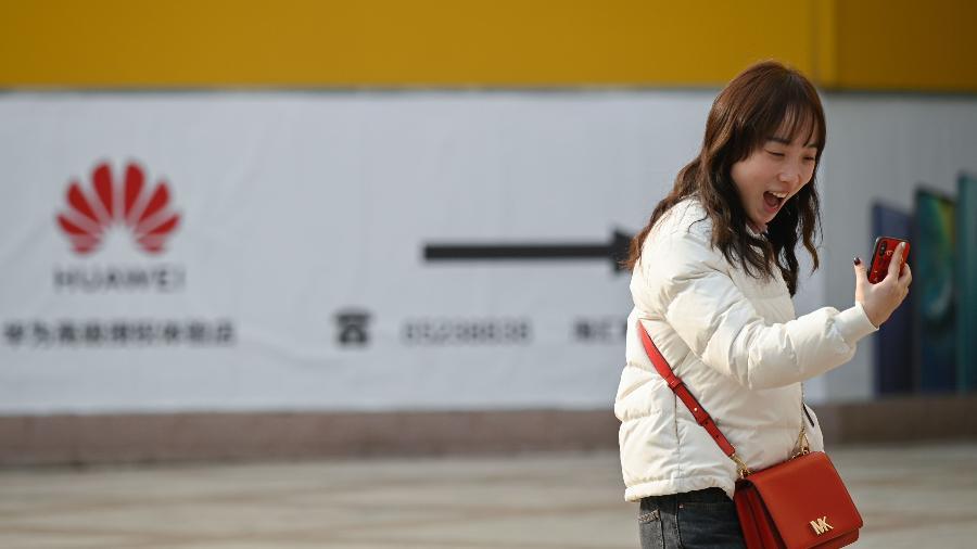 Potência na China, Huawei teve até agora pouca participação no mercado brasileiro - Wang Zhao/AFP
