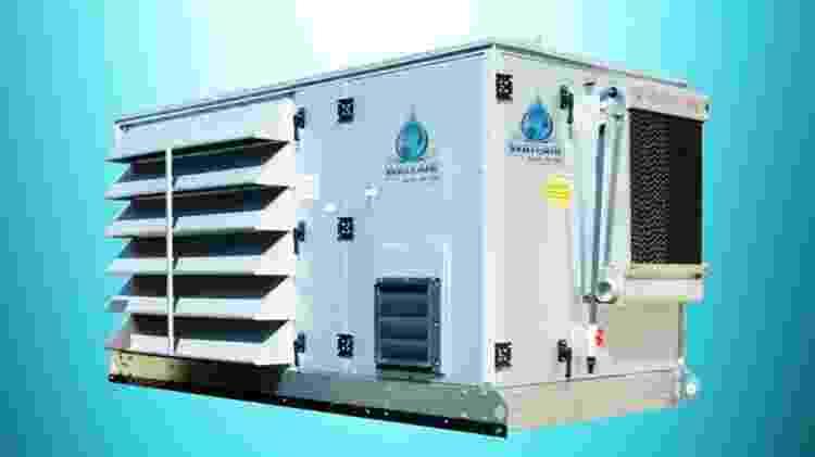 Equipamento condensa, purifica e adiciona minerais à água do ar - Wateair/Divulgação