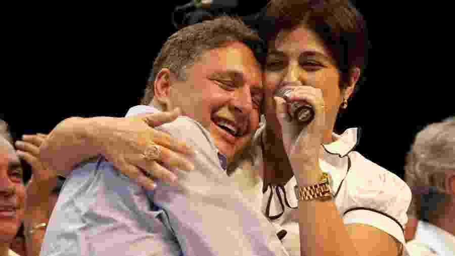 Os ex-governadores do Rio Anthony Garotinho e Rosinha Matheus - Rafael Andrade/Folha Imagem
