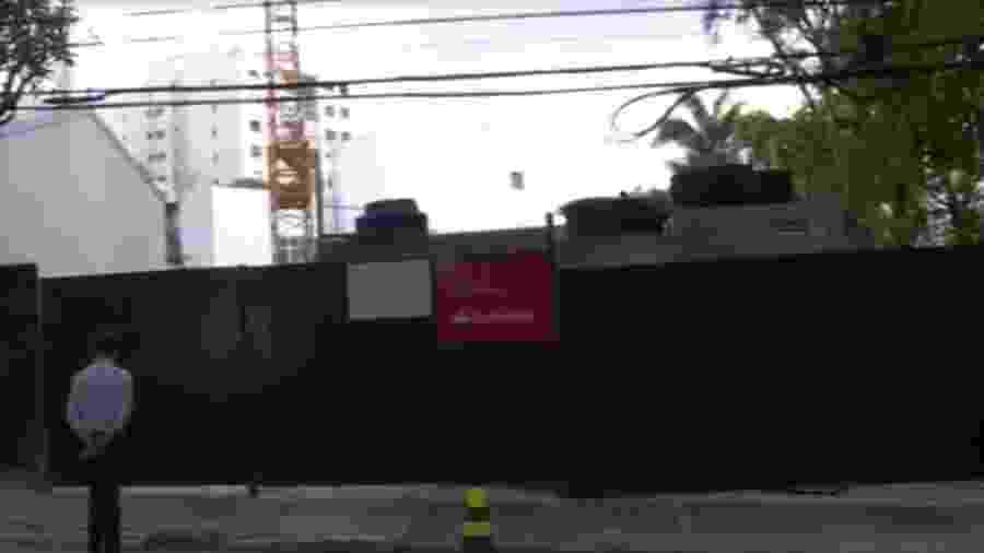 Ossada foi encontrada em terreno na rua Abílio Soares, no Paraíso - Reprodução/TV Globo