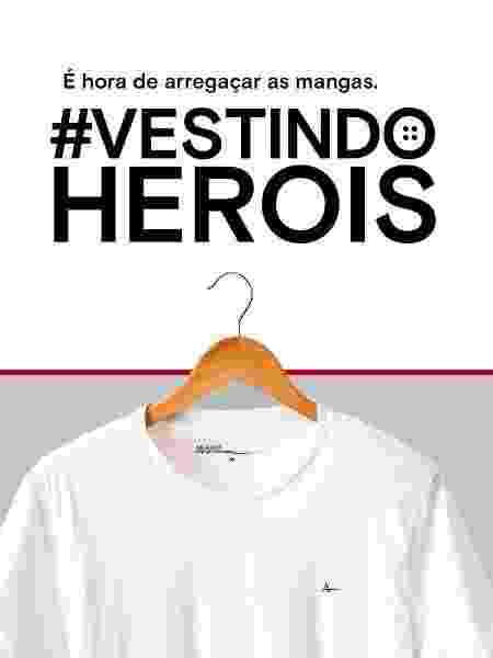 Iniciativa doará camisetas e polos a médicos e equipes em SP; grife convida outras marcas a doar também - Divulgação