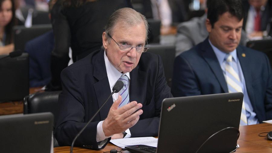 O senador Tasso Jereissati (PSDB-CE) em fala na Comissão de Assuntos Econômicos do Senado - Pedro França/Agência Senado
