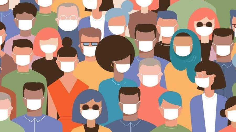As máscaras são indispensáveis em ambientes onde há muita gente - Getty