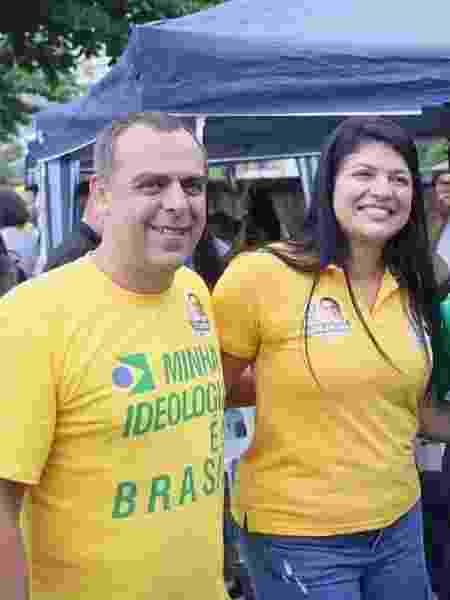 Os deputados estaduais Anderson Moraes e Alana Passos - Reprodução/ Facebook