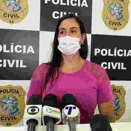 A delegada Raffaela Aguiar acompanha o caso da manicure Niasia Alves dos Santos - Reprodução - Reprodução