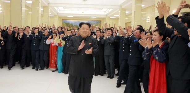 Líder supremo da Coreia do Norte Kim-Jong-Un