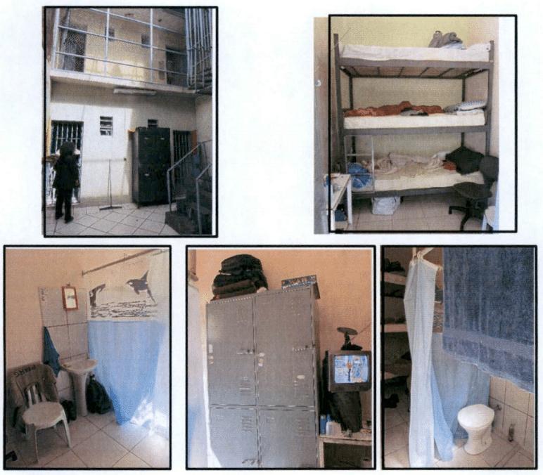 As celas em que vivem os PMs suspeitos de terem praticado crmes