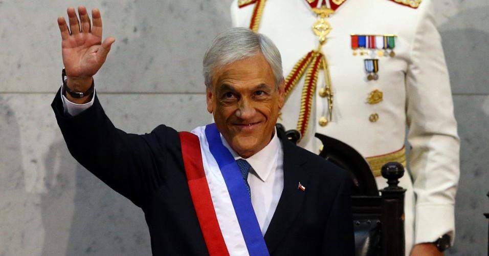 11.mar.2018 - Sebastián Piñera toma posse como presidente do Chile