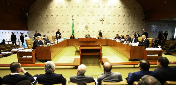 Vista geral do plenário da Supremo Tribunal Federal durante sessão para o julgamento do habeas corpus do ex-presidente Lula
