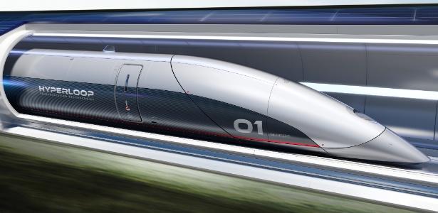Conceito do que poderia ser o Hyperloop