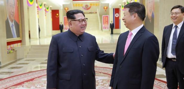Jong-un cumprimenta diretor de relações internacionais do Partido Comunista chinês