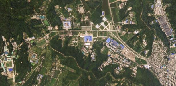 Imagem de satélite mostraria a continuidade do programa de produção de mísseis na Coreia do Norte - Planet Labs Inc/Handout via Reuters