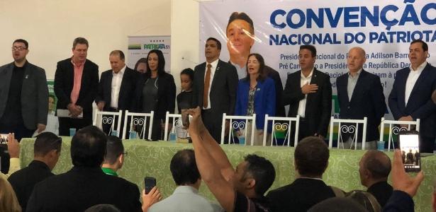 4.ago.2018 - Convenção nacional do Patriota oficializa a candidatura de Cabo Daciolo à Presidência da República