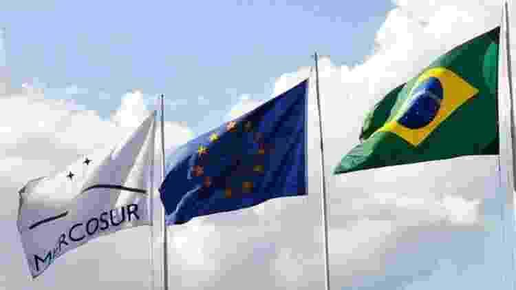 Bandeiras do Mercosul, da União Europeia e do Brasil - Wikimedia Commons - Wikimedia Commons