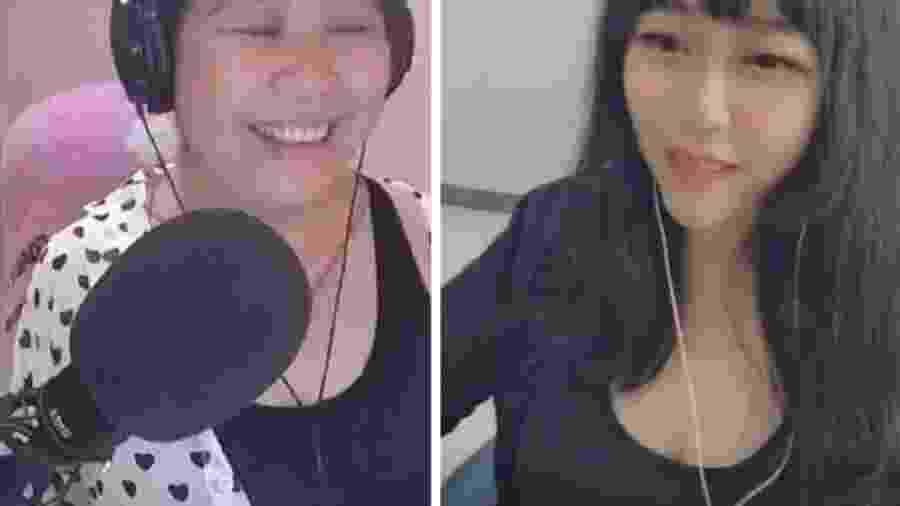 """Blogueira usava um filtro para parecer mais jovem em suas """"lives"""" - Douyu"""